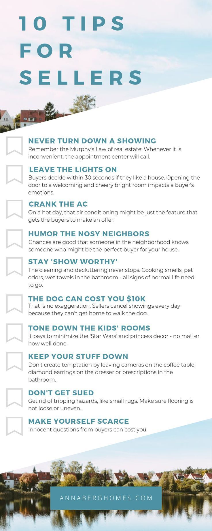 Keep these 10 tips in mind when selling your home! If you