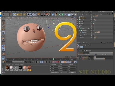 Face Animation in Rigging a Mouth and Using Pose Morph Tag