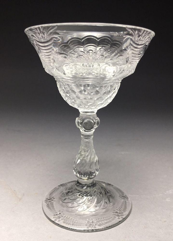Engraved Stourbridge Webb Signed William Fritshe Cut Rock Crystal Wine Stem  | eBay