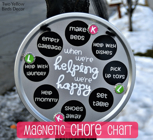 Magnetic Chore Chart @ Two Yellow Birds Decor