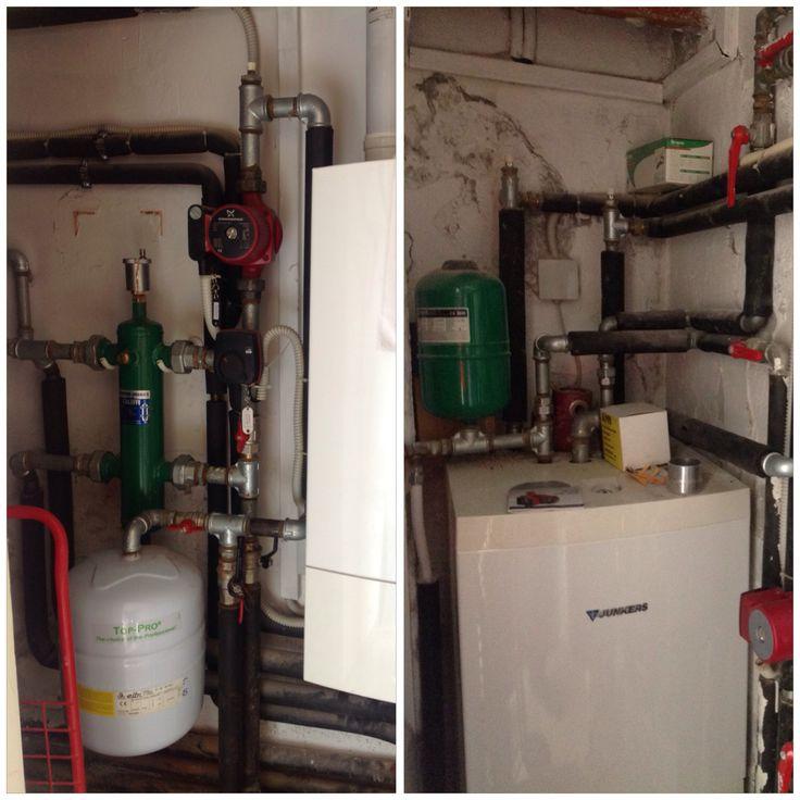 Sostituzione di caldaia e bollitore, installazione di separatore idraulico e adeguamenti normativi a Venezia - Giudecca su impianti costruiti dalla nostra Ditta nel 1988.
