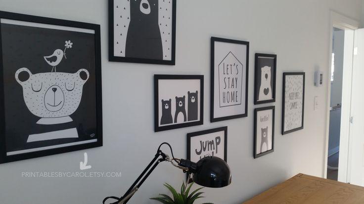 ... baby room wall decor, whimsical woodland nursery print, chambre enfant