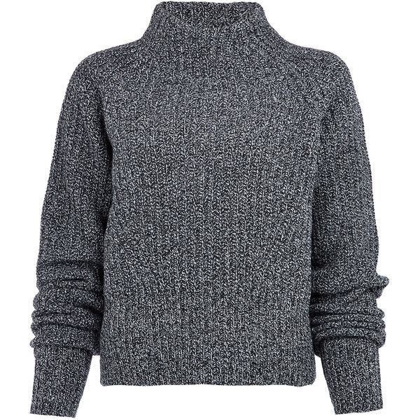 Acne Studios Black Loyal Lambswool High-Neck Jumper found on Polyvore