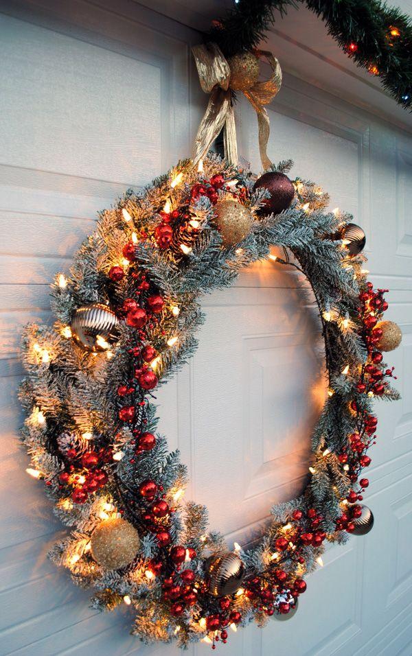 Solar Powered Wreaths Christmas
