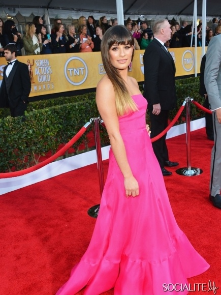 Lea Michele At The 2013 Annual Screen Actors Guild Awards