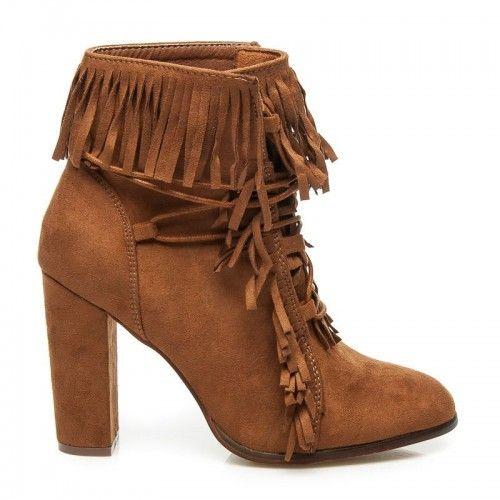Dámské boty na podpatku Klenbery hnědé - hnědá