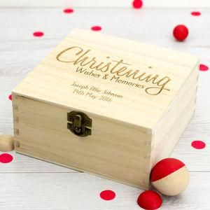 Personalised Christening Wishes Keepsake Box - Give a Christening gift that shows they are truly cherished. Thoughtful and original, lots of the products can be personalised as they are created by talented independent designers or small creative businesses.