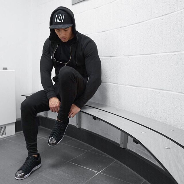 Today's gym outfit, going all black. TAG a friend.  Hat: black suede AZV Hoodie: @Zara  T-shit: @aestheticrevolution  Bottoms: @aestheticrevolution Shoes: black suede adidas superstars  #fashion #fashionista #fashionblog #fashionblogger #fashiondiaries #street #streetwear #style t#stylish #cool #menswear #fit #model #music #fitfam #clothes #outfit #outfitoftheday #mensfashion #him #aesthetics #sweet #fashionable #shopping #mensstyle #kpop #selfie #uk #london