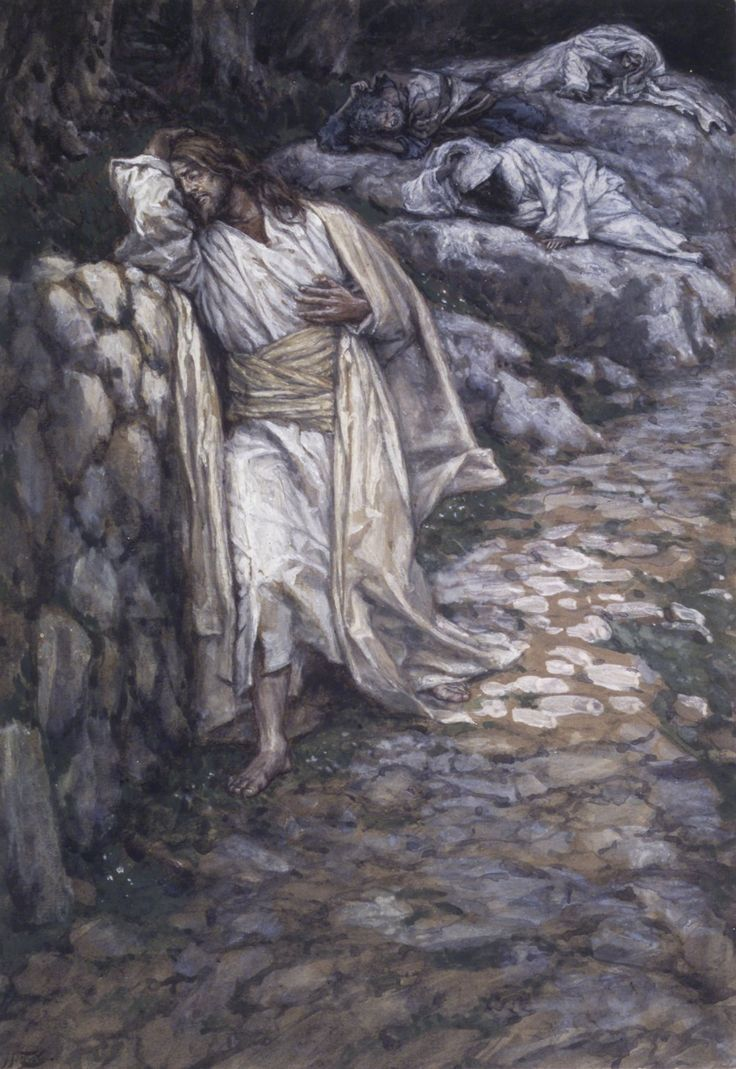 My Soul is Sorrowful unto Death / Mon âme est triste jusqu'à la mort // 1886-1894 // James Tissot // Brooklyn Museum // cf. Mark 14:34 // #Jesus #Christ #Cristo