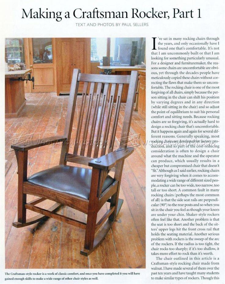 #1861 Craftsman Rocking Chair Plans - Furniture Plans