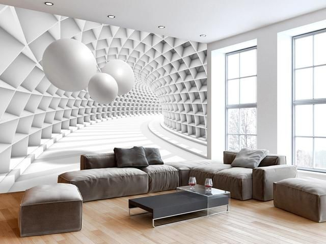 3d Wallpaper In A Modern Interior 75 Photos Wallpaper Living