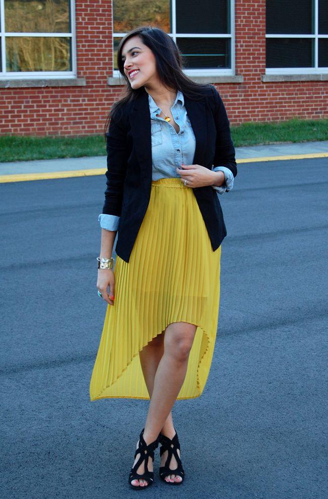 Mustard yellow: Mustard Skirt
