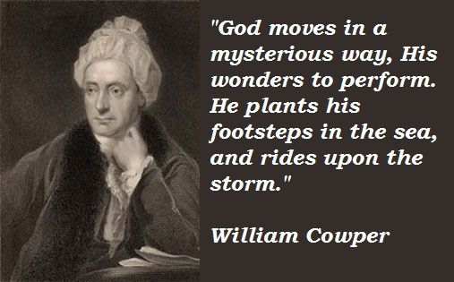 slavery and cowper William cowper, the poet, wrote a number of anti-slavery poems he was friends with the anti-slavery campaigner john newton who asked him to write in support of the abolitionist campaign.