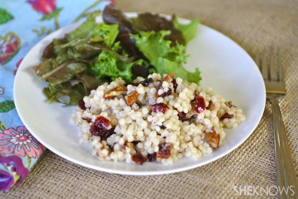 Couscous with dried fruit and nuts #MeatlessMonday @SheKnows