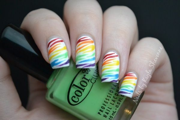 Nails by Kayla Shevonne: A Different Take on Rainbow Zebra Print Nails