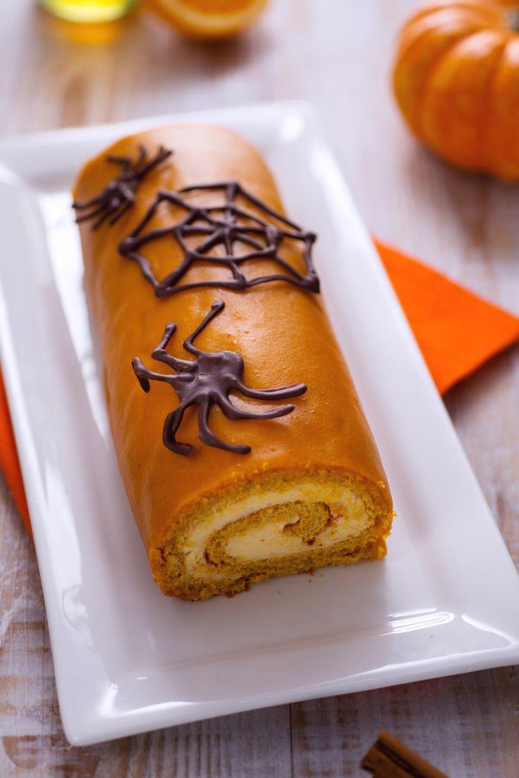 Rotolo dolce di Halloween: troppo delizioso per essere spaventoso! [Halloween pumkin sweet roll]