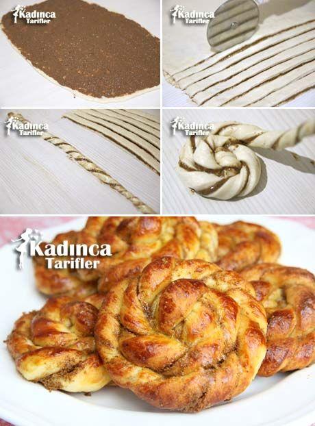 Haşhaşlı Şerit Poğaça Tarifi Kadincatarifler.com - En Nefis Yemek Tarifleri Sitesi - Oktay Usta