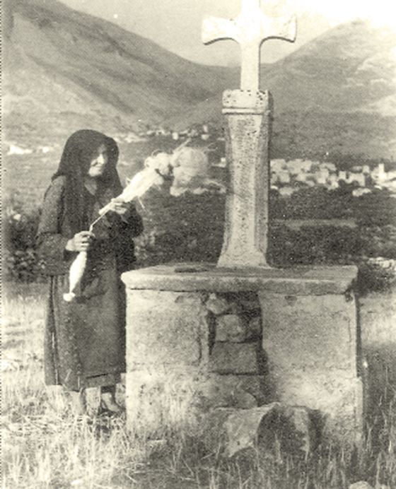 Nomia's graveyard. In the background Kitta, Laconia - GREECE!