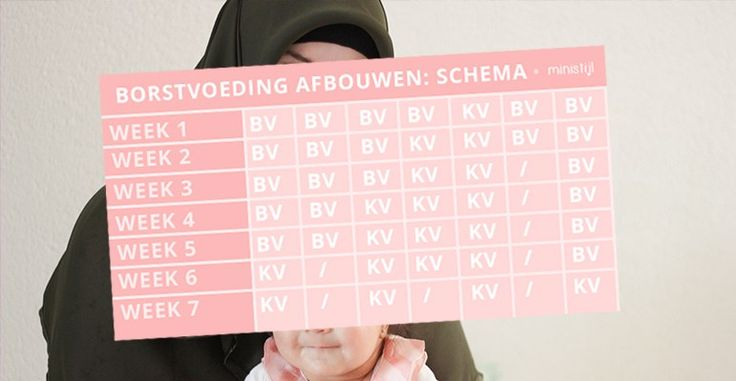 Borstvoeding afbouwen | schema
