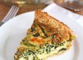 Asparagus, Spinach, & Feta Quiche
