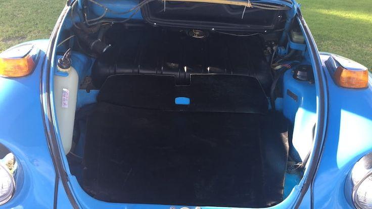 Ready to bid for a 1976 Laguna Blue VW Convertible. Mecum Auctions, Lot T44, in Las Vegas, Nevada, November 16-18, 2017
