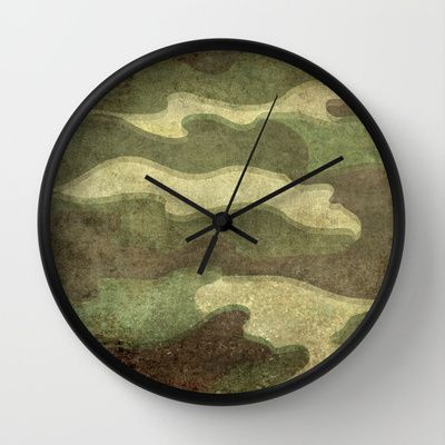 Dirty Camo Wall Clock by Bruce Stanfield - $30.00