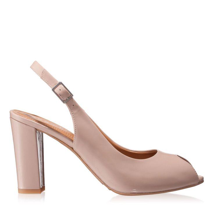 Sandale dama nude 4289 piele lacuita