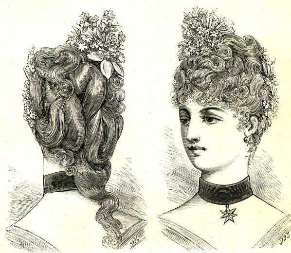 86 best costume 1880 1900 images on pinterest vintage fashion victorian era and victorian - Coiffure pour soiree ...