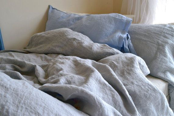 Light grey stonewashed luxurious linen by HouseOfBalticLinen
