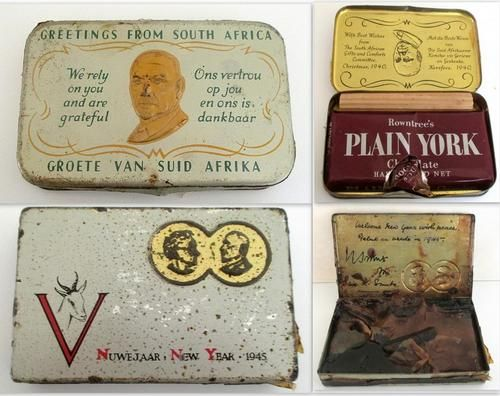 Other War Memorabilia - 2 WW TINS WITH ORIGINAL CONTENTS ---PLEASE READ DESCRIPTION for sale in Cape Town (ID:197248220)