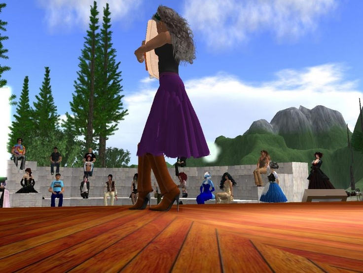 Music Island events site, my virtual worlds music project