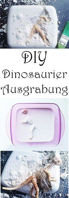 Ideen für Dino Kindergeburtstag. Dinosaurier Ausgrabung selber machen mit Kindern