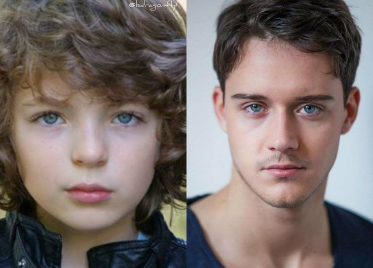 Fergus - as a boy and an adult