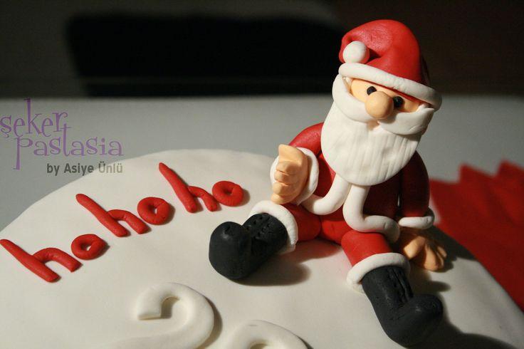 Yeni Yıl Noel Baba Pasta