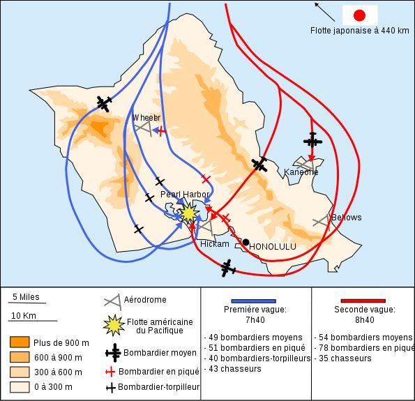 Pearl Harbor 1941 - Attaque de Pearl Harbor —  les 2 vagues d'attaque - Wikipédia