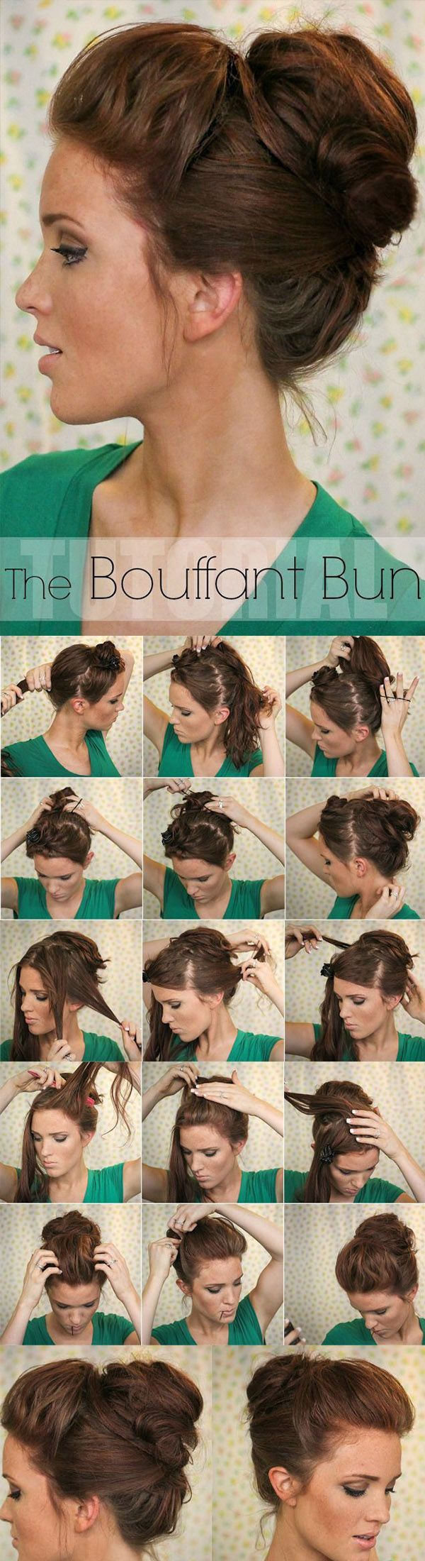 Bouffant  Bun: Cute! Plus, I think it could work with curly hair. Love that!