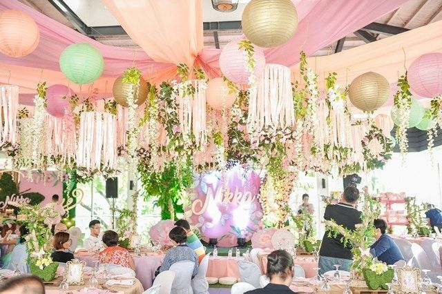 Nikka S Dainty Enchanted Forest Themed Party Ceiling Enchanted Forest Theme Party Fairytale Birthday Debut Ideas