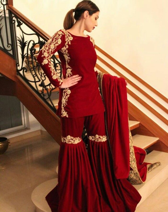 Garaaras are back! email sajsacouture@gmail.com for this smoking red hot ensemble