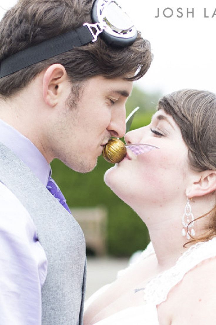 Too cute for words! Total talent! This DIY 'Harry Potter' Wedding Will Leave You Postively Spellbound