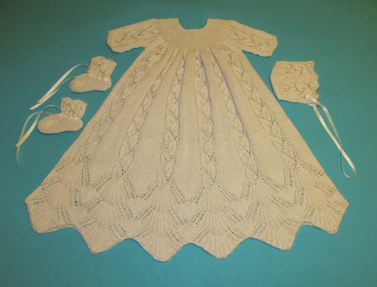 14 Best Crochet Lace Knitted Baby Christening Gowns Images On