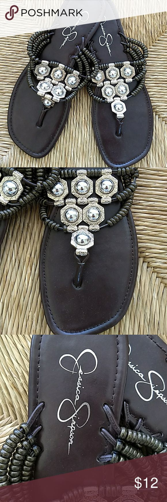 Jessica Simpson Beaded Sandals sz 8 Very nice barely worn Jessica Simpson sandals size 8 Jessica Simpson Shoes Sandals