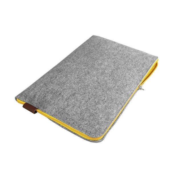 POKROWIEC NA LAPTOPA 01 zolty zamek filcowe etui - Torebki-Filcowe-Purol-Design - Etui na tablet