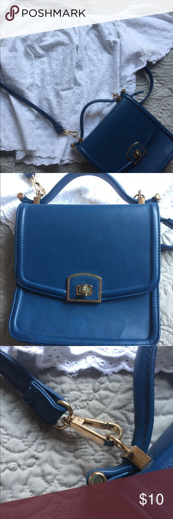 """Blue Boutique purse Faux leather. Small """"briefcase"""" style purse. Used a couple of times Bags Crossbody Bags"""