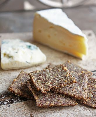 Low Carb Rosemary and Sea Salt Flax Crackers.  Makes: A LOT  Ingredients:  1 cup ground (or milled) flax seeds  2 eggs  1/2 cup grated parmesan or romano cheese  1 Tsp minced fresh rosemary  Sea salt or kosher salt for sprinkling