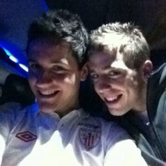 Ander and Iker being creepy.