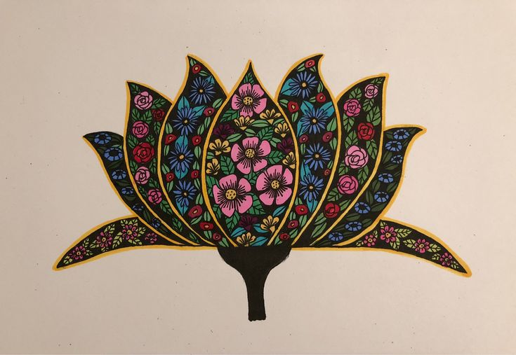 A personal favourite from my Etsy shop https://www.etsy.com/au/listing/593253909/lotus-flowers-ink-drawing-wall-art-print