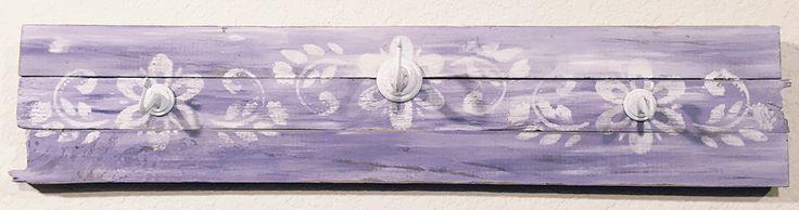 Pretty In Purple Coat Rack by WilyBlackBird on Etsy