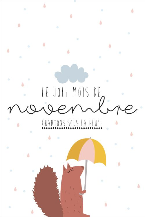 Carte postale Novembre - Printable - Freebie