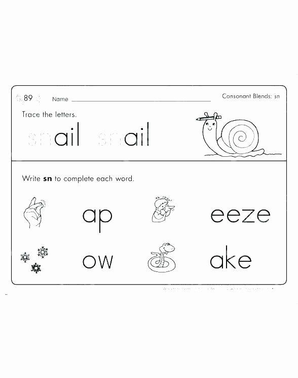 Blends Worksheets Kindergarten Free Final Consonant Blends