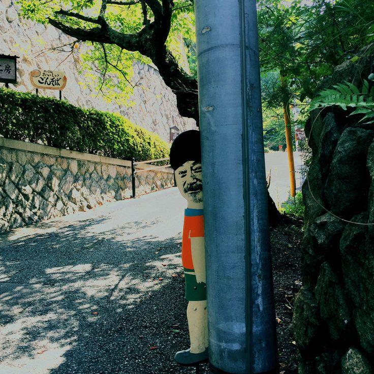 Curioso personaje en Arima (Kobe).